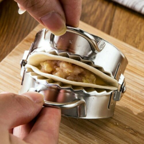 Stainless Steel Wrapper Dough Presser Cutter Dumpling Pie Maker Pastry Tool