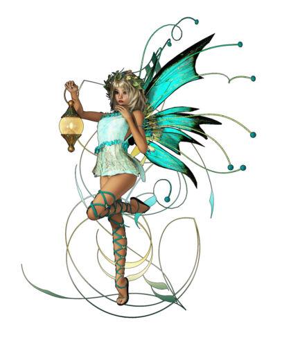 F04 estribo imagen perchas transferencia duendecillo hada Fairy turquesa din a4 a5 sustancias brillantes