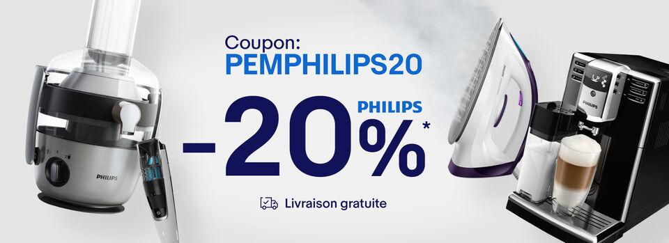 Génial - 20% de réduction sur une sélection Philips !