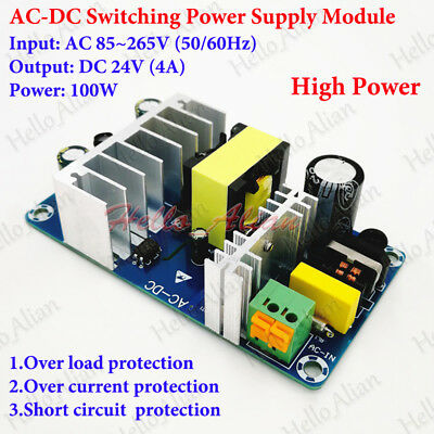 AC110V 220V to 24v DC 6A 100W Industrial Power Switching Supply Converter Module