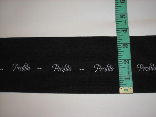 "5 yard Piece of Black /""Profile/"" 3.5/"" Wide Waistband Elastic"