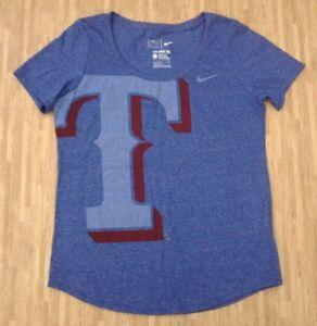f736d93ca809e Texas Rangers Nike MLB Baseball Shirt ~ Women s Large L Ladies ...