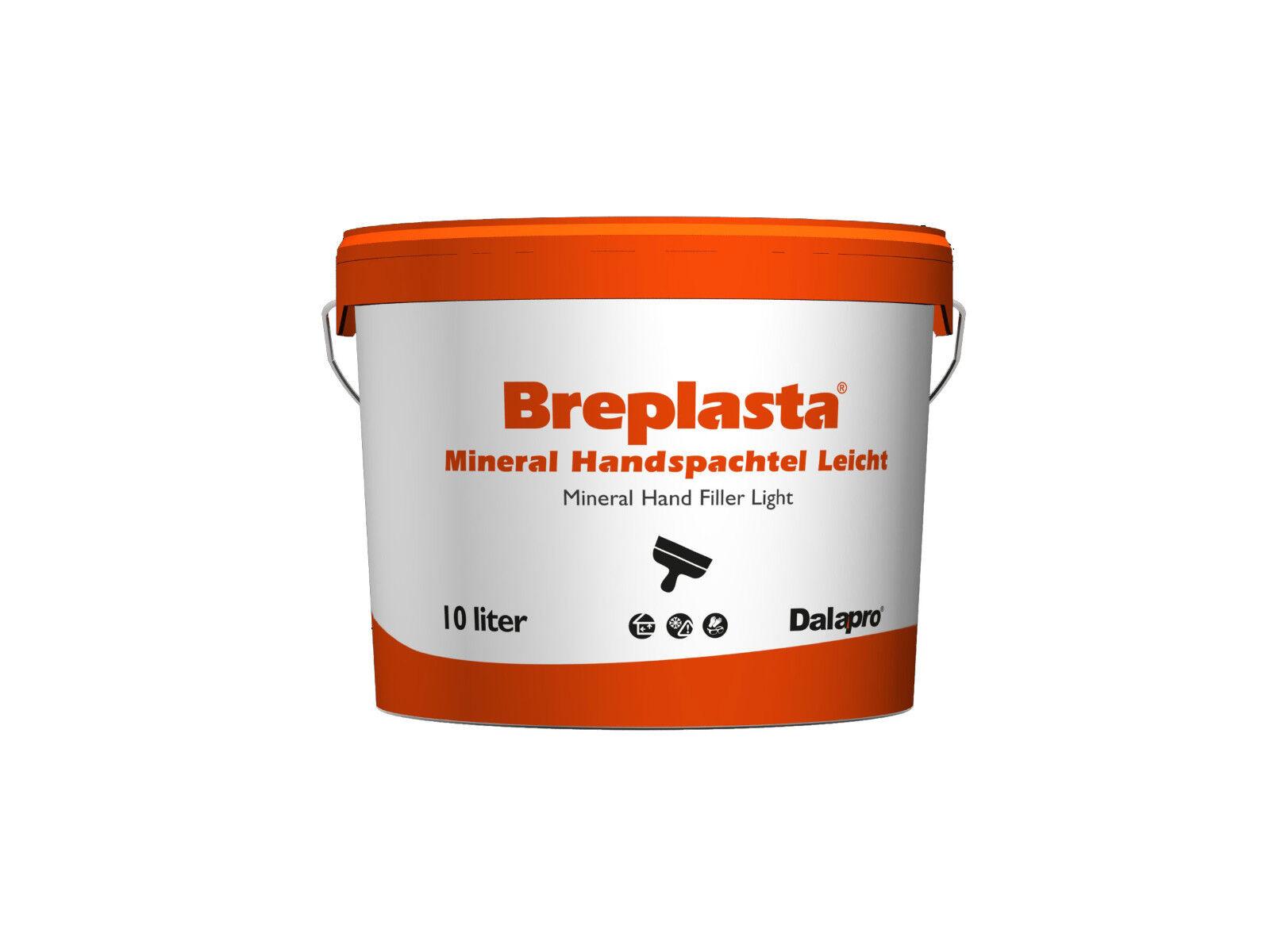8x Scandipaint BREPLASTA Handspachtel Leicht 10 Liter - mineralisch, feinkörnig