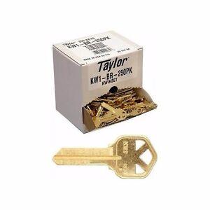 Key Blanks for Locksmith / 250 Kwikset KW1 / Brass / Made by Ilco