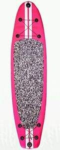 New-10-039-Stand-Up-Paddleboard-6-034-Board-Width-Inflatable-SUP-W-Paddle-Pink