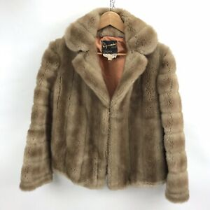 Vintage-Dynamink-Jacket-Coat-Womens-Size-14-Faux-Fur-Made-England