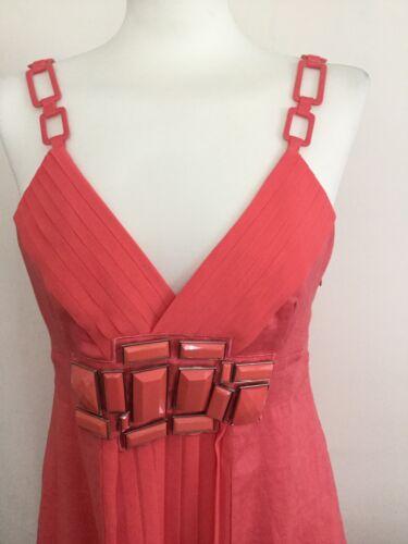 Avec Rrp £ Veste K M Neuf 205 Taille Robe Costume Derhy Étiquettes Lin Corail En wvR8gqTv