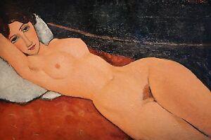 Modigliani-Nu au cossin Ed. 300 uds Firma impresa. Num. a lapiz. Certif. Edicion