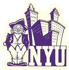 NYU    New York University   (College)  Vintage-Looking   Travel Decal  Sticker