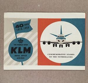 1959-KLM-COMMEMORATIVE-STAMPS-of-the-Netherlands-Official-Post-Office-Brochure