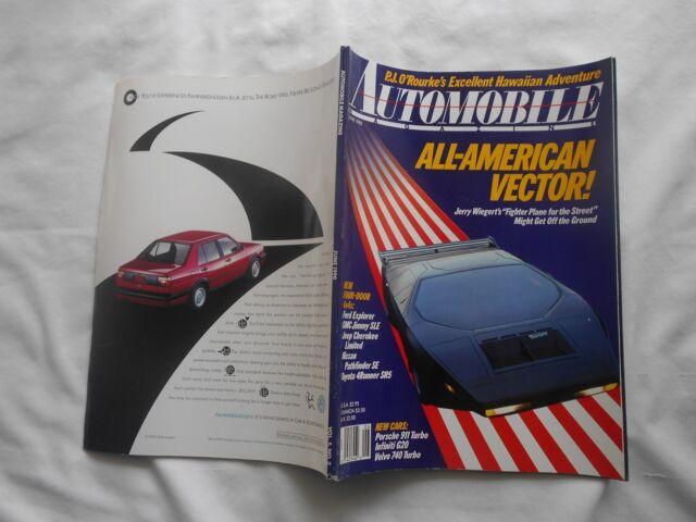 AUTOMOBILE MAGAZINE-JUNE,1990-ALL-AMERICAN VECTOR!-NEW CARS:PORSCHE 911 TURBO