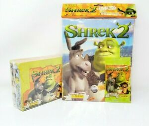 2004 Shrek 2 The Movie Panini Sticker Album with 10 album stickers NEW