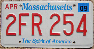 Image is loading MASSACHUSETTS-Spirit-of-America-License-Plate -Random-Letters-  sc 1 st  eBay & MASSACHUSETTS Spirit of America License Plate - Random Letters - MA ...
