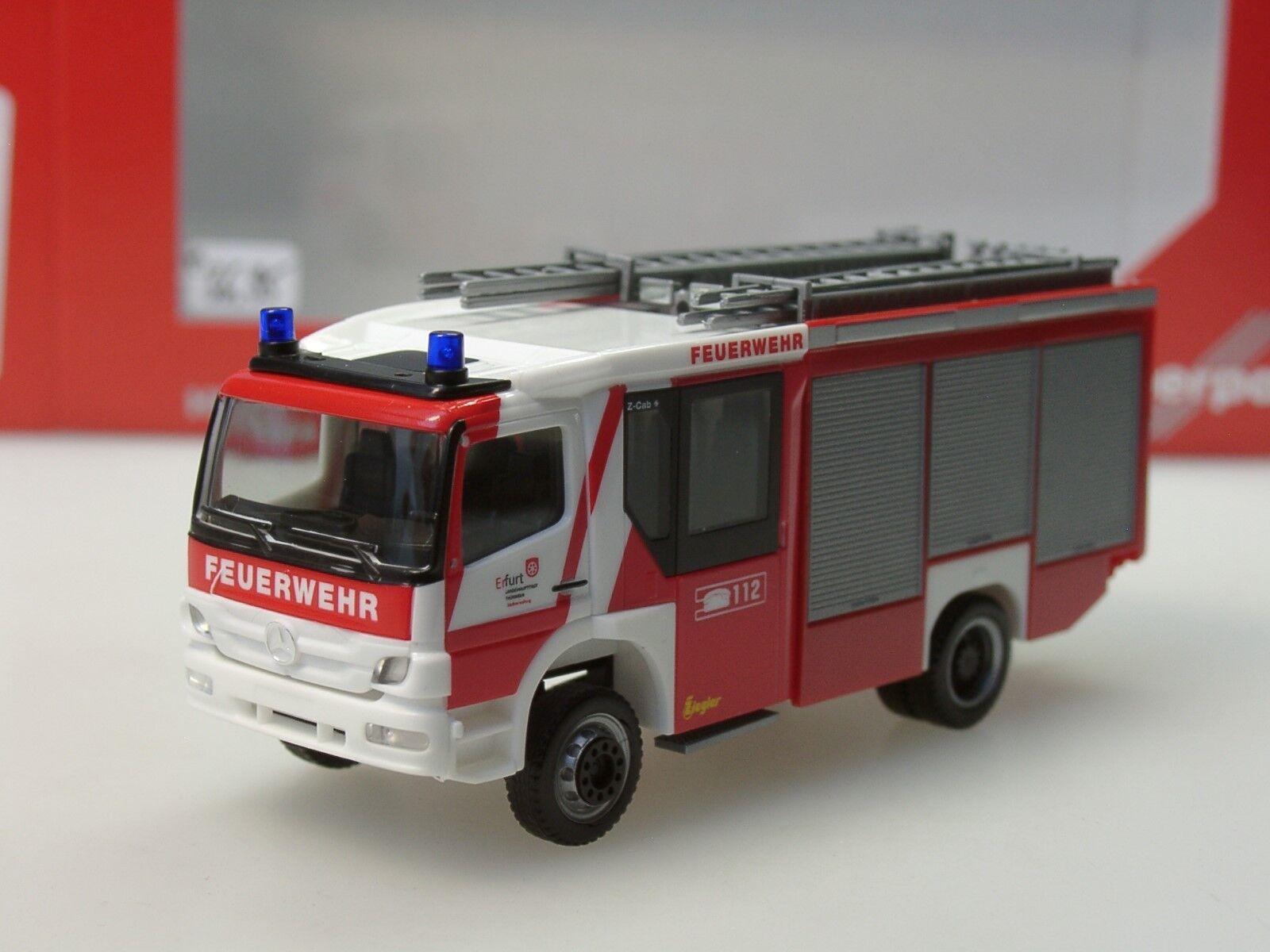 Herpa Mercedes-Benz Atego Ziegler Z-Cab  Pompiers Erfurt  - 093798 - 1 87