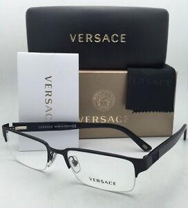 5c98e2f874 New VERSACE Eyeglasses VE 1184 1261 53-18 Semi-Rimless Black Frames ...
