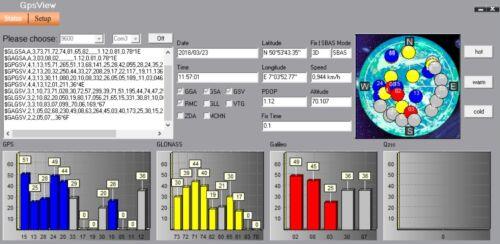 1-10Hz GM-3N GNSS Receiver GPS// GLONASS// GALILEO// BEIDOU// QZSS support A-GPS