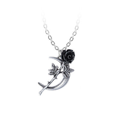 New Delicate Gothic Punk Skull Rose Cross Necklace /& Pendant Gift Jewelry Chain