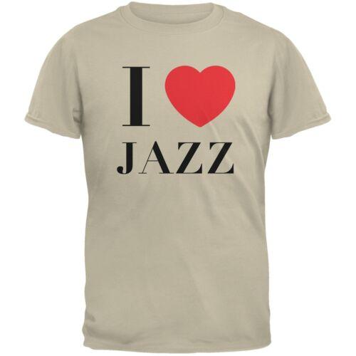 I Heart Jazz Sand Adult T-Shirt