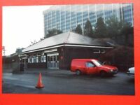 PHOTO  CARDIFF QUEENS ROAD RAILWAY STATION 1992 EXTERIOR VIEW