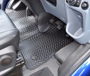 Ford Transit Custom Heavy Duty Rubber Front Full Coverage Floor Mat Protector Ebay