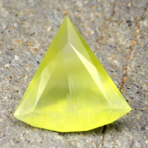 PREHNITE-AUSTRALIA-18-0Ct-SEMI-TRANSPARENT-WITH-SILK-BEAUTIFUL-COLOR-RARE