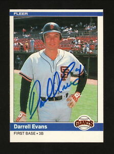 Details About Darrell Evans Autograph San Francisco Giants 1984 Fleer Baseball Card
