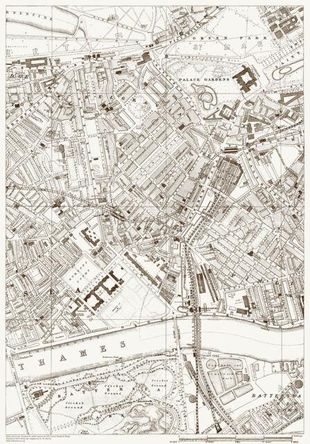 Pimlico London Map.Belgravia Chelsea Pimlico Old Vintage Map London 1888 D22 Ebay