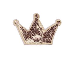 Couronne Ecusson brodé paillettes patch Crown Bügelbild Krone Aufnäher Applikati