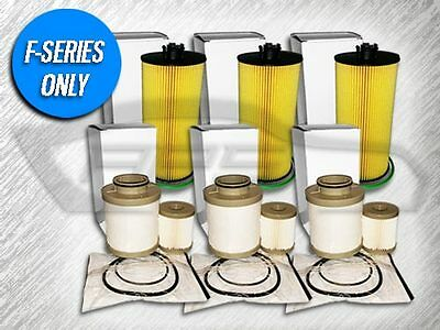 3 OIL FILTERS & 3 FUEL FILTER SETS FOR FORD 6.0L TURBO DIESEL -CHARITABLE GIVING