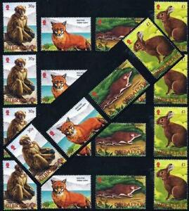 Wholesale-GIBRALTAR-2002-ANIMALS-x5-sets-MNH-FOX-RABBIT-MONKEY