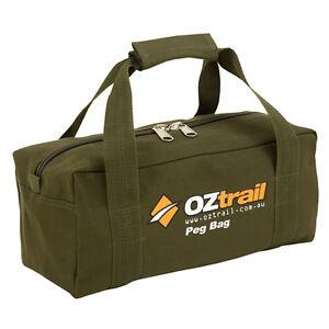 OZTRAIL-CANVAS-TENT-PEG-CARRY-BAG-35x15x15cm-NEW