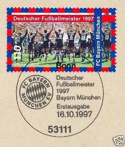 BRD-1997-Bayern-Muenchen-Fussballmeister-Nr-1958-mit-Bonner-Stempel-1A-1802