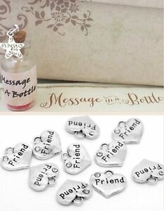 message in a bottle diamantÉ friendship friend best friend card gift