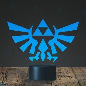Legend Of Zelda Triforce Lamp Decoration Lamp 7 Color Mode