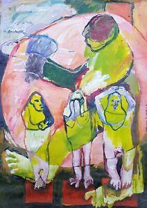Lysiane-D-COSTE-peinture-acrylique-sur-papier-painting-on-paper-29-42-cm-2020