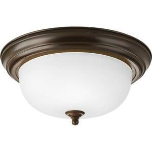 Progress-Lighting-2-Light-Antique-Bronze-Flush-Mount-with-Etched-Glass