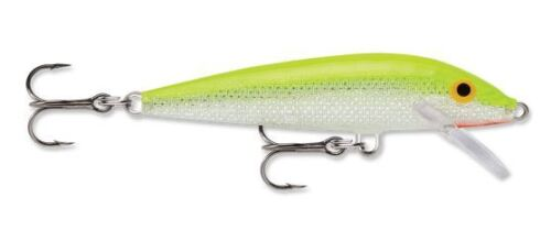"""Rapala Original Floating Floater F07-SFC Silver Fluorescent Chartreuse 2 3//4/"""""""