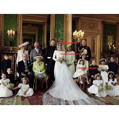 ROYAL WEDDING Photo 8x10 PRINCE HARRY MEGHAN MARKLE Official Family Portrait