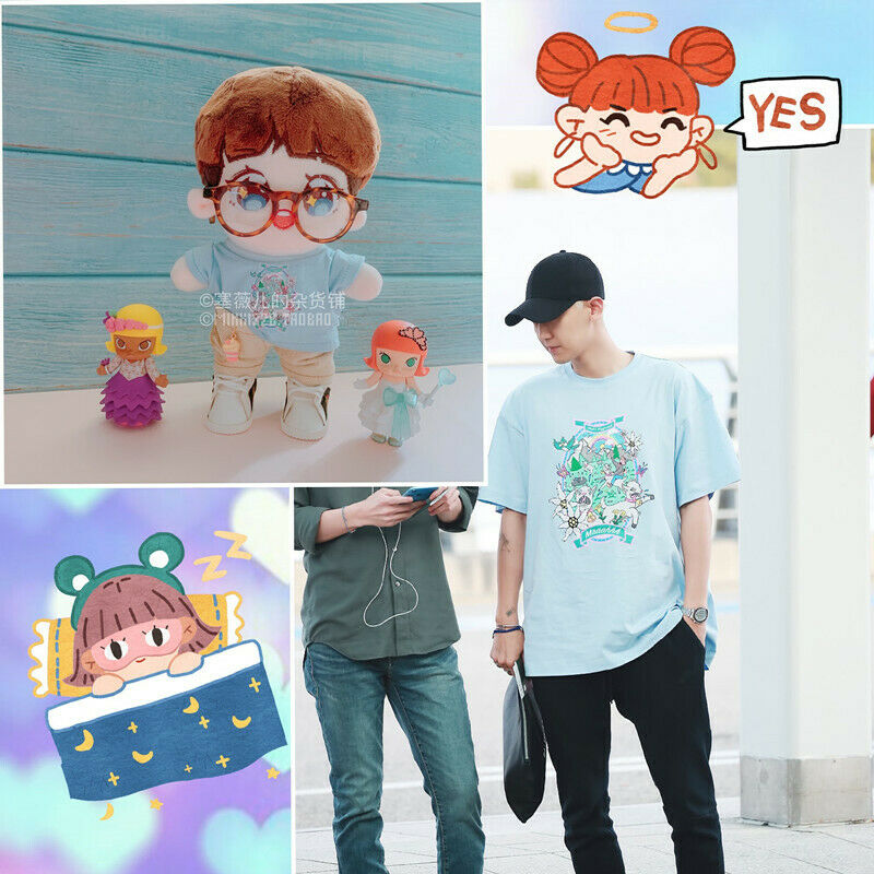 Hand-made Kpop EXO XOXO Park Chanyeol Doll Clothes Cute T Shirt Stuffed Gift N