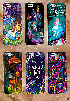 Alice In Wonderland Design - Plastic Phone Case Cover For Apple iPhone & Samsung