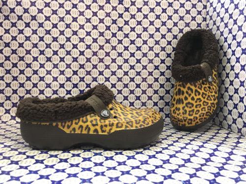 Ciabatta Pelliccia Classic Marrone Beige Crocs Blitzen Donna 203823