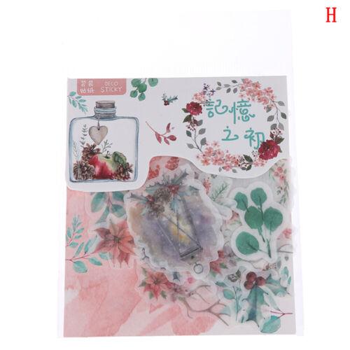 40 un.//paquete Flores Pegatinas Pack Kawaii planificador Memo de Recortes Pegatinas-JT