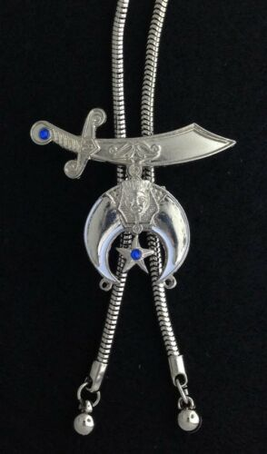 LSB-1 Masonic Shriner Scimitar /& Crescent Ladies Bola Necklace
