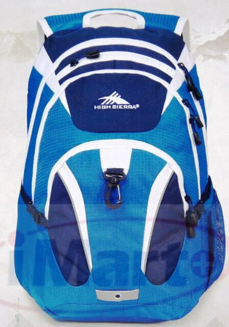 High Sierra RipRap Deluxe Padded Backpack 15'' Laptop Bag School Back Pack blue