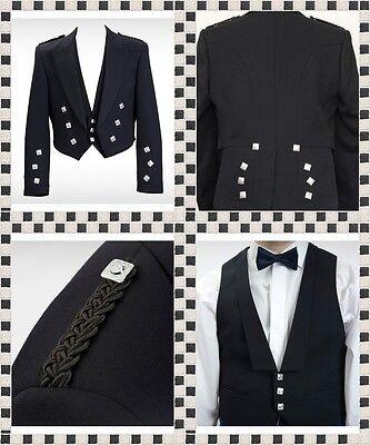 Devoto Il Principe Charlie Misto Lana Giacca E Gilet-gilet Scozzese Giacca Principe Charlie-mostra Il Titolo Originale Elegante Nello Stile