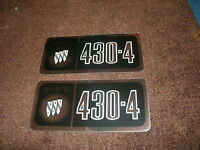 1969 Buick Electra Wildcat 430 Valve Cover Decals Pair Black / Silver