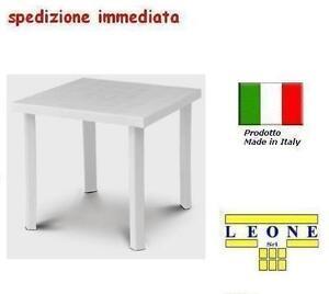 Tavolo in plastica da giardino cm79 x cm79 h cm72 colore bianco modello figaro ebay - Tavolo da giardino in plastica ...