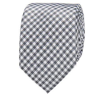 NEW Blaq Gingham Tie Charcoal