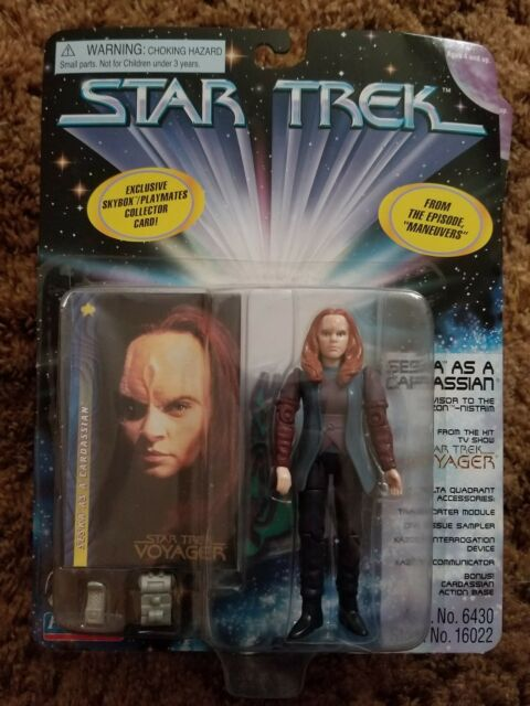 STAR TREK Voyager SESKA AS A CARDASSIAN Action Figure Playmates 1997 Combo Card