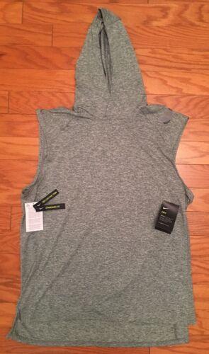 $70 NEW Mens Nike Run Division Element Sleeveless Running Hoodie Shirt CI1793 L